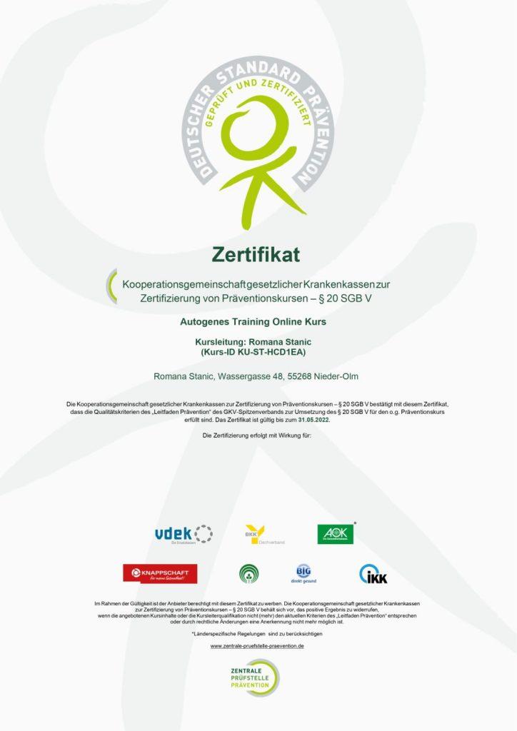 Zertifikat Romana